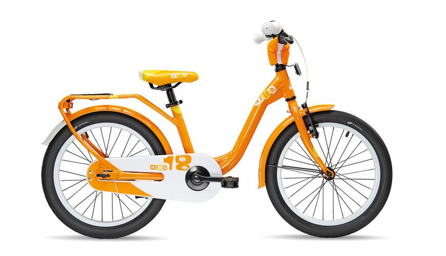 s'cool niXe 18 Børnecykel orange